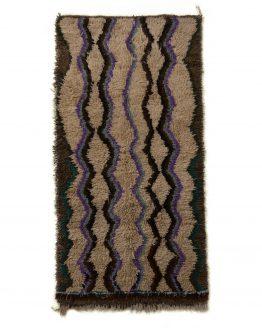 Beige Blue Vintage Moroccan Rug