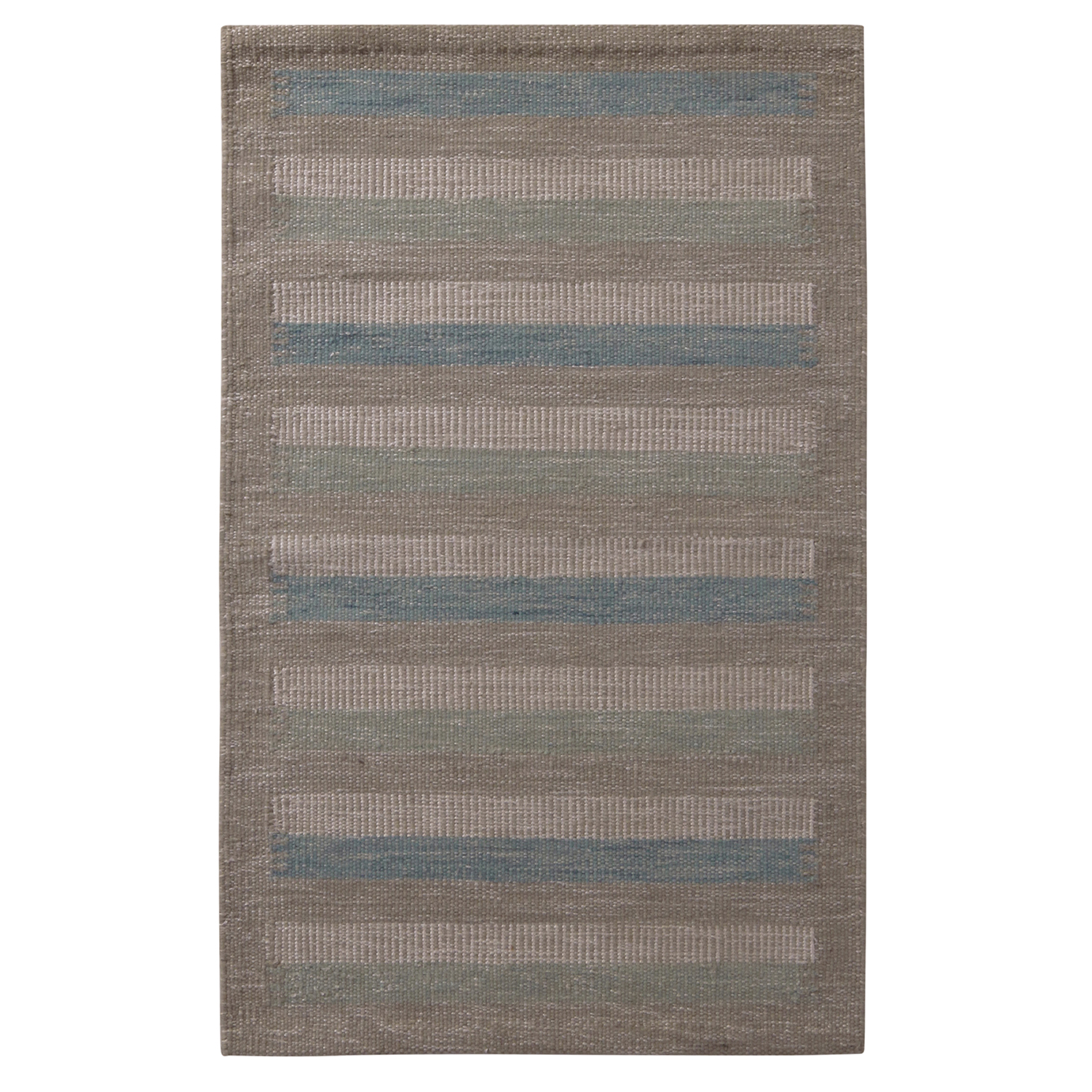 Rug Kilim S Scandinavian Style Striped Beige Brown Green And Blue Wool Kilim Rug Kilim