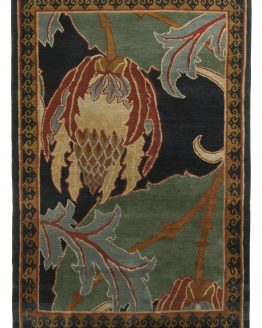 Contemporary Floral Rug Pomegranate Pattern