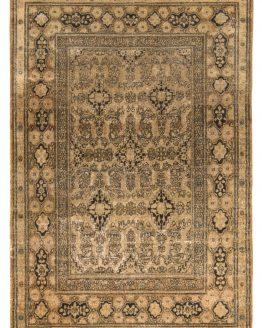 Antique Isfahan Rug Geometric Persian Carpet