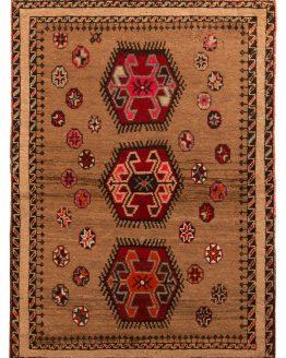 Mid-Century Gabbeh Rug 1950s Vintage Persian