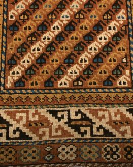 Antique Kuba Rug Beige Brown Tribal