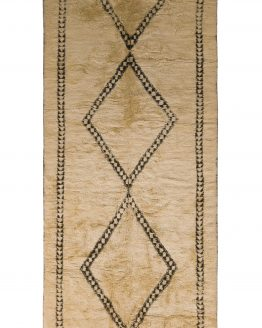 Mid-Century Moroccan Rug Diamond Pattern