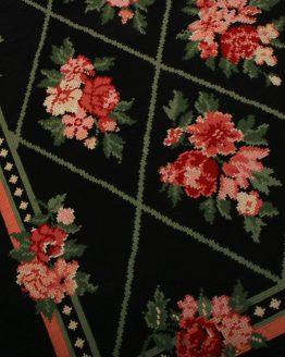 Contemporary Needlepoint Rug European Floral