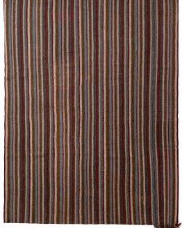 Vintage Mid-Century Kilim Striped Pattern
