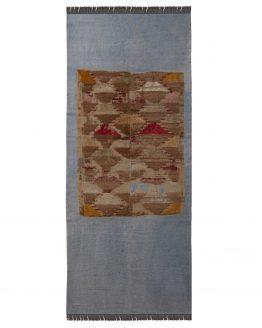Vintage Mid-Century Layered Kilim Rug