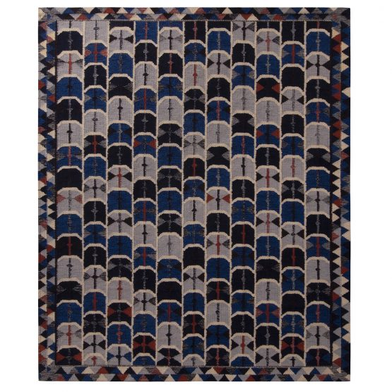 Blue and Gray Scandinavian Style Flatweave