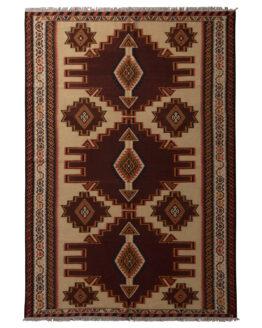 Vintage Azerbaijan Wool Persian Kilim