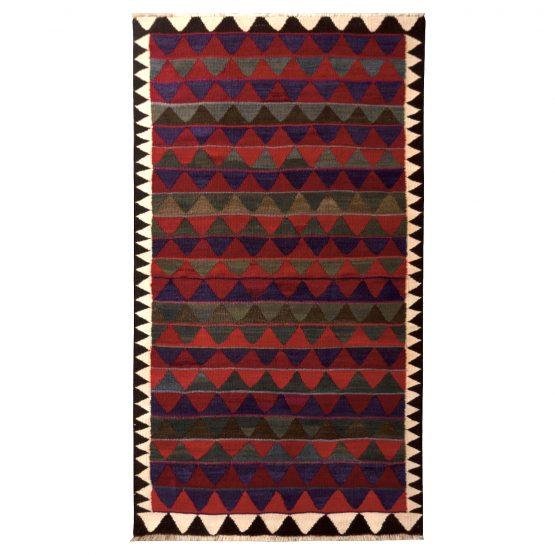 Vintage Red Kurdish Persian Kilim