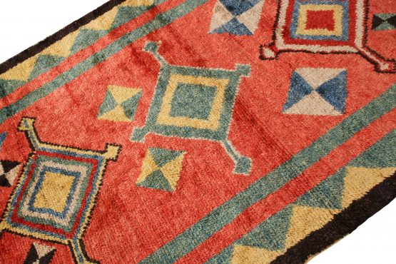 Modern Tulu Rug Medallion Tribal Pattern