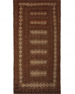 Hand-Made Vintage Kilim Brown Rug