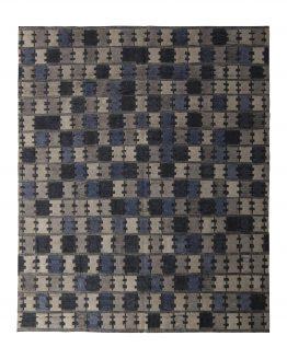 Blue Pile Scandinavian Rug
