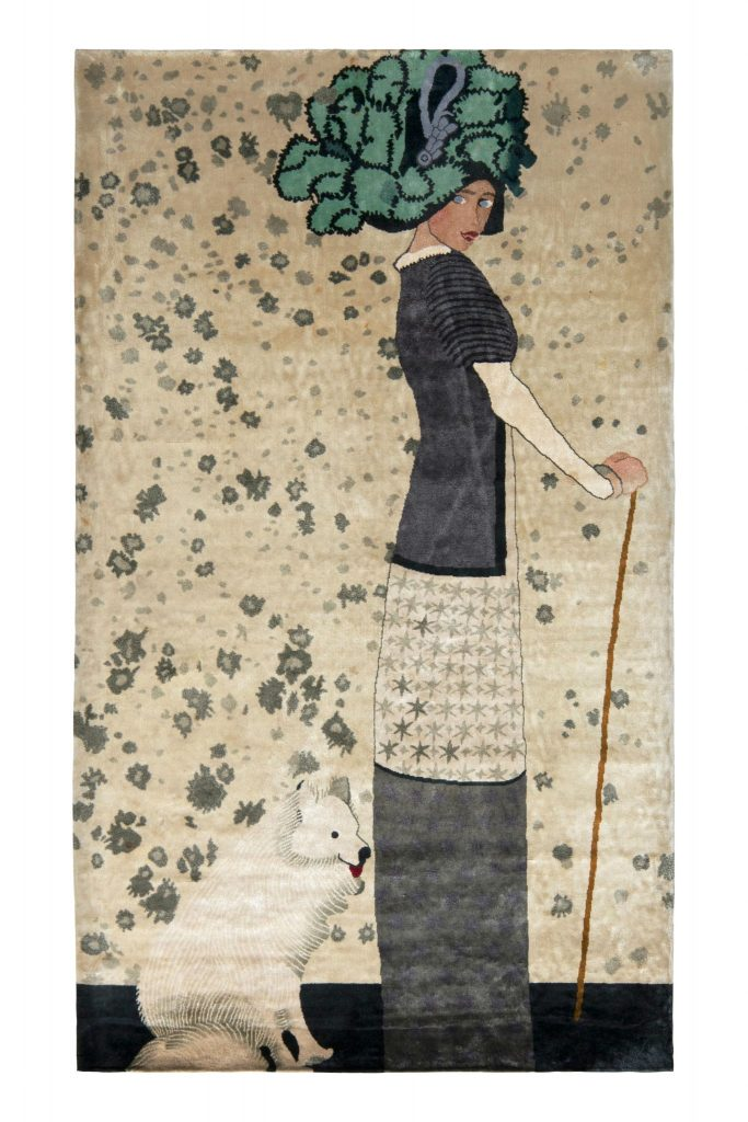 Pictorial Art Deco rug