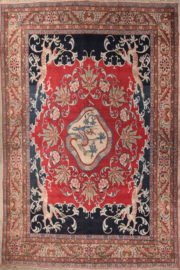 Persian dragon rug